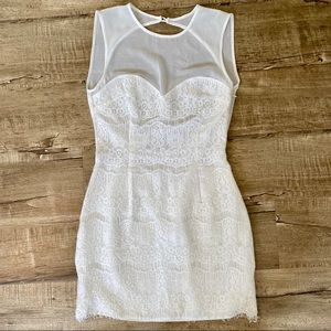 Dolce Vita White Lace Mini Dress Open Back XS